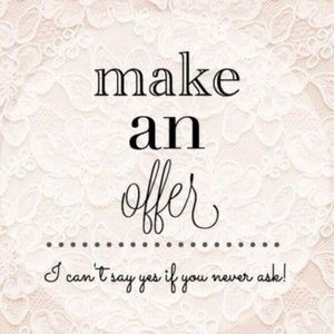 Make an offer on anything! Most items 60% off orig